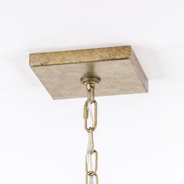 Vintage Gold 20-Inch Four-Light Pendant, image 9