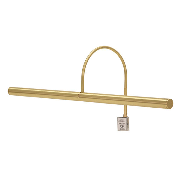 Slim-line Satin Brass 24-Inch Four-Light Picture Light, image 1