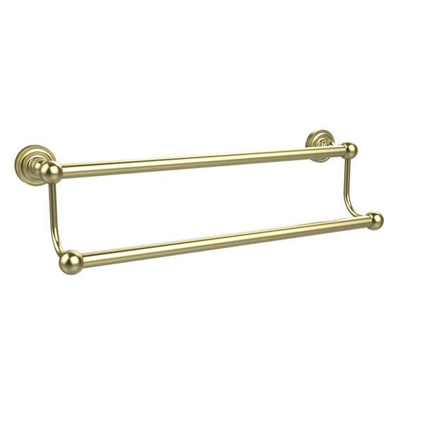 Satin Brass Double Towel Bar, image 1