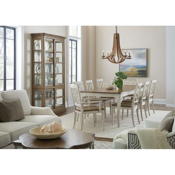 Montebello Danish White and Carob Brown Side Chair, image 5