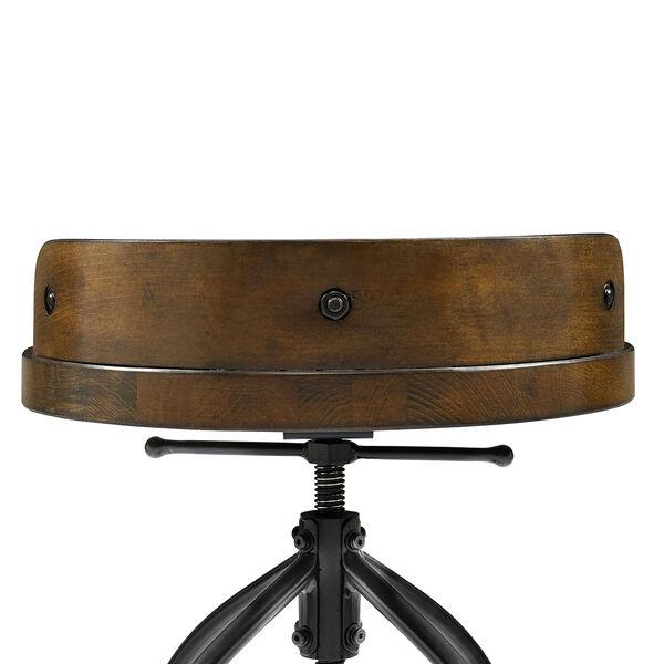 Edison Natural Adjustable Height Bar Stool, image 4