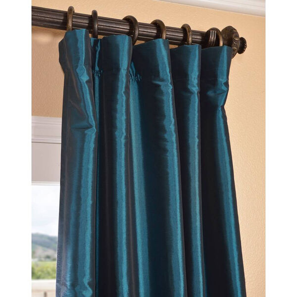 Mediterranean 108 x 50-Inch Blackout Faux Silk Taffeta Curtain Single Panel, image 3