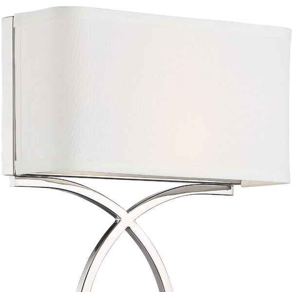 Brinkley Polished Nickel 10-Inch Two-Light Wall Sconce, image 3