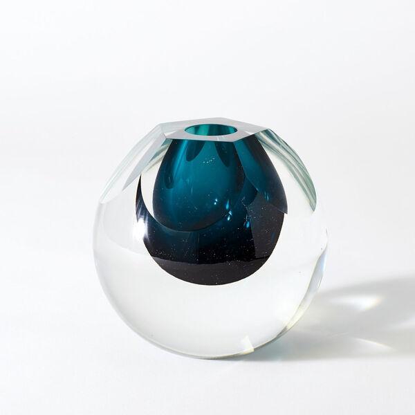 Studio A Home Azure Pentagon Cut Glass Vase, image 1