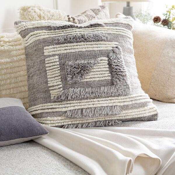 Baracoa Beige, Medium Gray and Tan 22-Inch Pillow , image 2