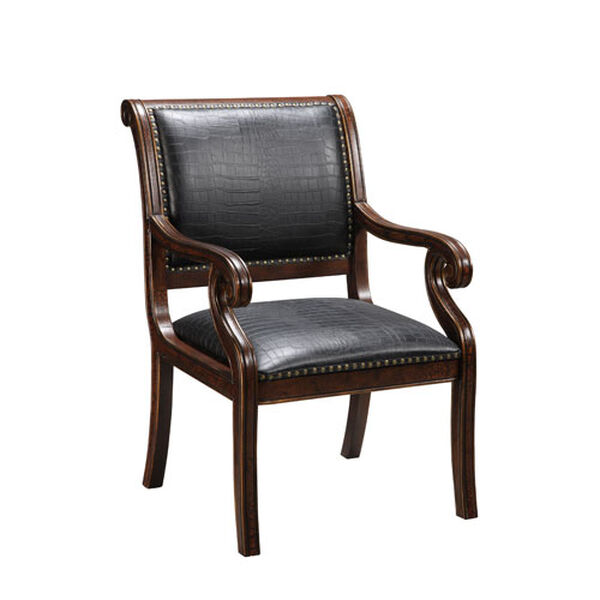 Rich Brown Accent Chair, image 1