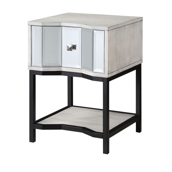 Gabby White Black End Table, image 1