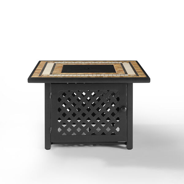 Tucson Brown 40-Inch Fire Table, image 1