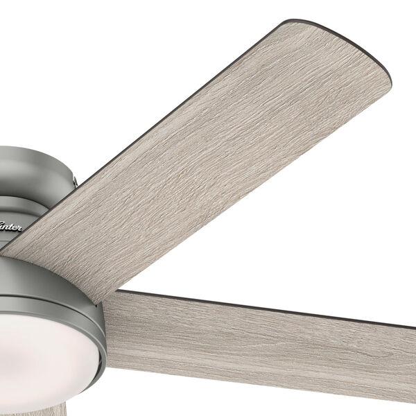 Romulus Low Profile Matte Silver 54-Inch Smart LED Ceiling Fan, image 4