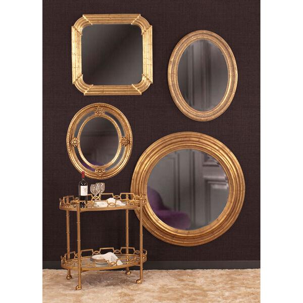 Nero Gold Oval Mirror, image 2