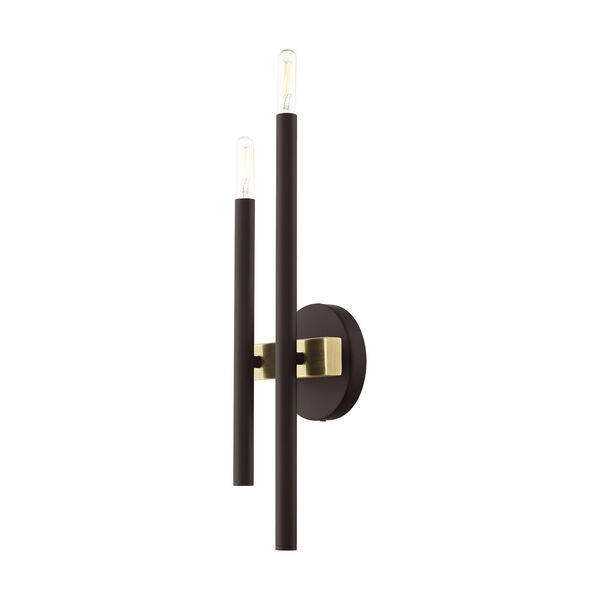 Denmark Bronze and Antique Brass Four-Light  Wall Sconce, image 4