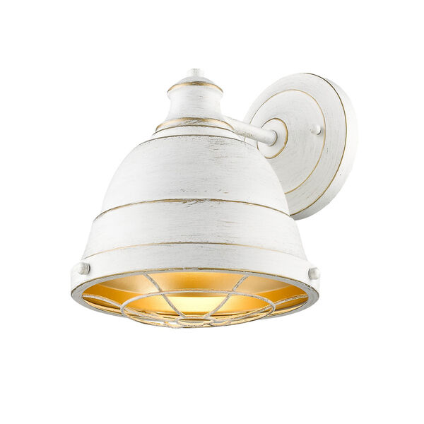 Bartlett French White One-Light Wall Sconce with French White Shade, image 2