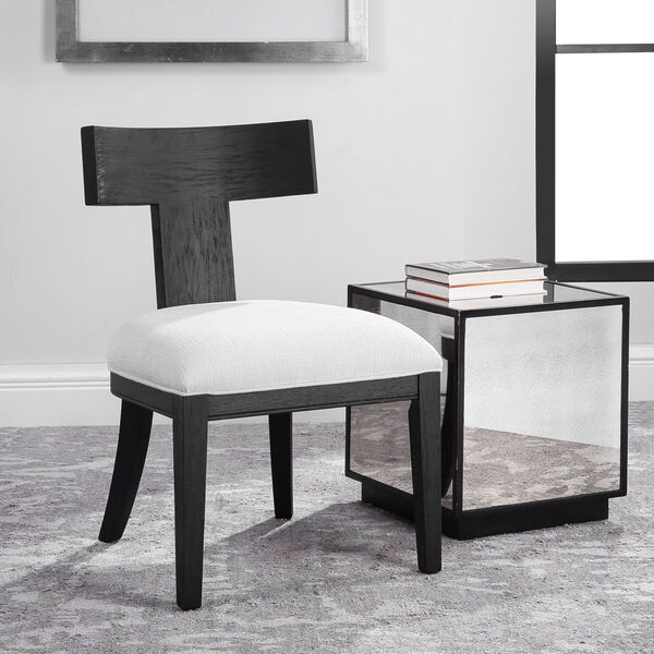 Idris Charcoal Black Accent Chair, image 2