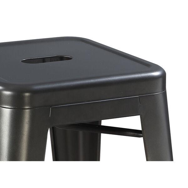 Afton Gunmetal Gray 30-Inch Bar Stool, Set Of 2, image 4