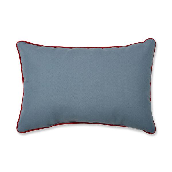 Blue and White Christmas Woodland Deer Lumbar Pillow, image 2