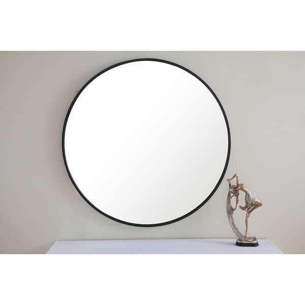Eternity Black Round 32-Inch Mirror, image 1