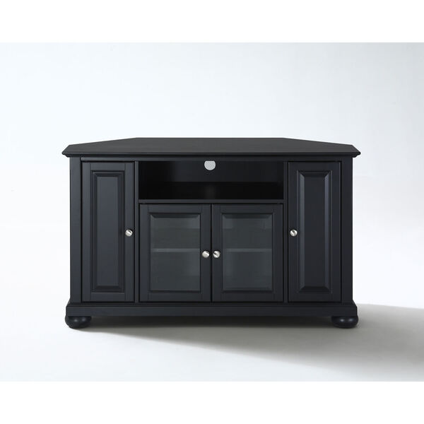 Alexandria 48-Inch Corner TV Stand in Black Finish, image 1