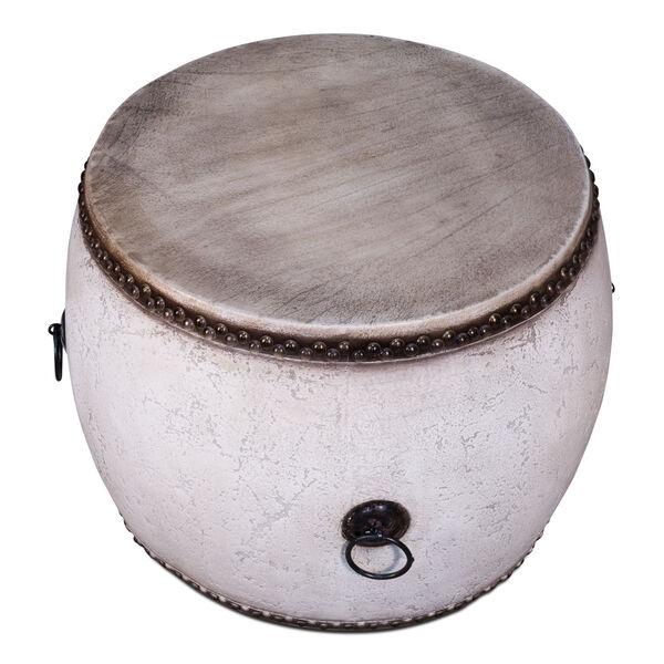 White  Drum Table, image 4