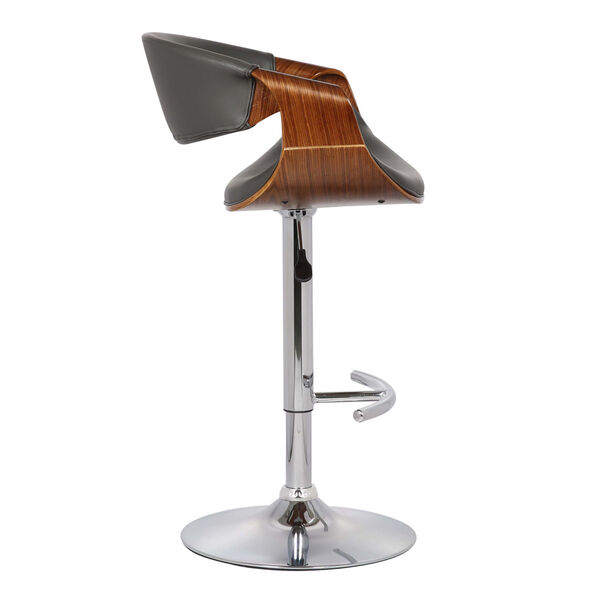 Butterfly Walnut and Gray 33-Inch Bar Stool, image 3