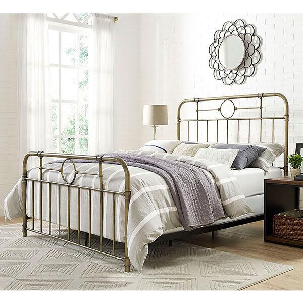 Queen Size Bronze Metal Pipe Bed, image 1