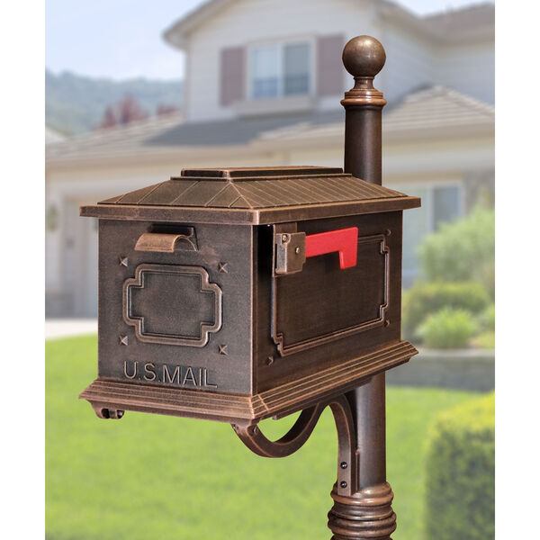 Kingston Copper Curbside Mailbox - (Open Box), image 2