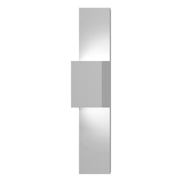 Flat Box Textured White LED 6-Inch Wall Sconce, image 1