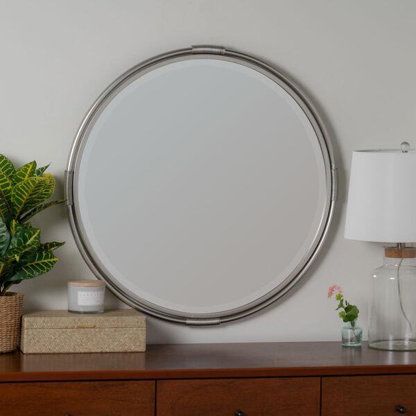 Scarlet Silver Metal 32-Inch x 32-Inch Wall Mirror, image 1