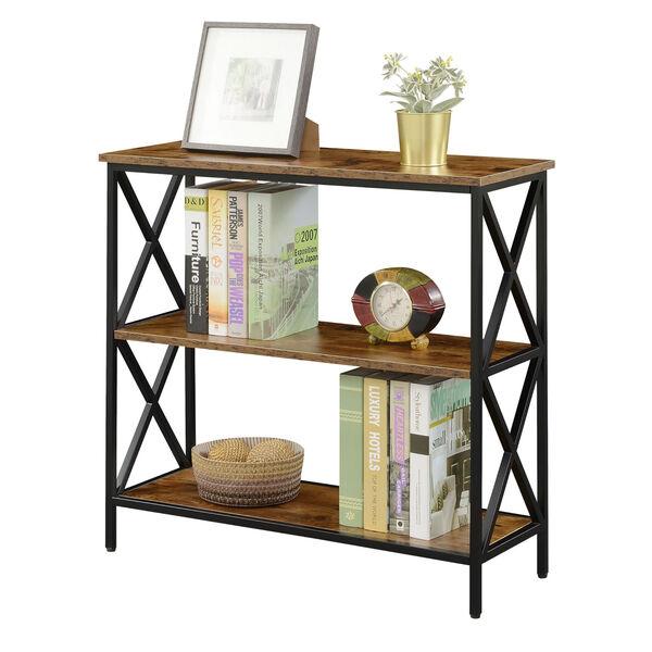 Tucson Barnwood Black Three-Tier Bookcase, image 3
