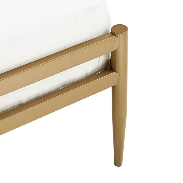 Kennedy Gold Twin Metal Spindle Bed, image 6