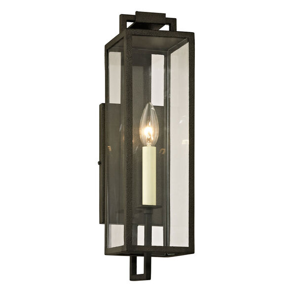 Beatty Forged Iron One-Light Outdoor Wall Sconce, image 1