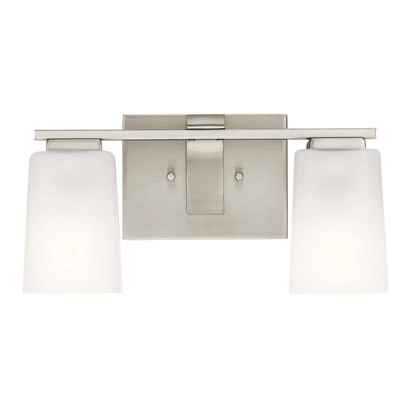 Roehm Brushed Nickel Two-Light Bath Vanity, image 3