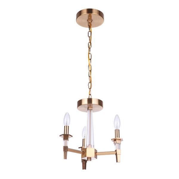 Tarryn Satin Brass Three-Light Convertible Semi Flush, image 1