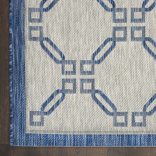 Garden Party Blue and Ivory 7 Ft. x 10 Ft. Indoor/Outdoor Rectangle Area Rug, image 4