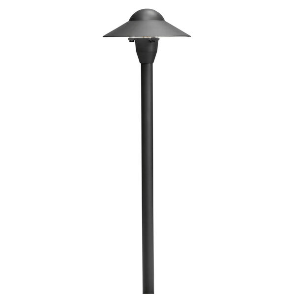 Textured Black 21-Inch One-Light Landscape Path Light with Six-Inch Dome, image 1