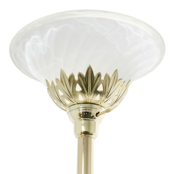 Quince Gold White Shade Three-Light Floor Lamp, image 6