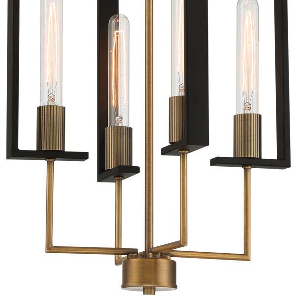 Chicago PM Old Satin Brass Four-Light Pendant, image 4
