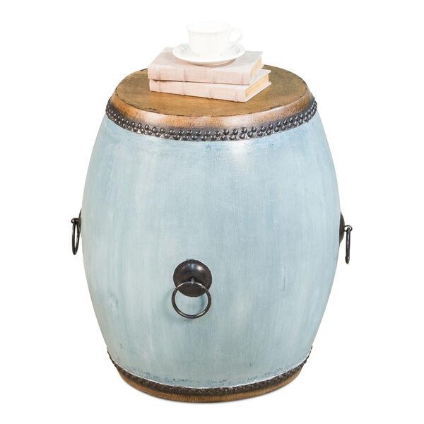 Blue Drum End Table, image 2