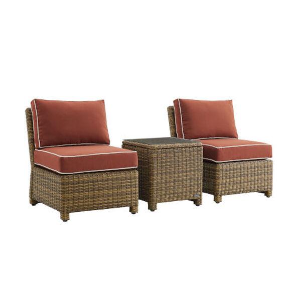 Bradenton Sangria Weathered Brown Three-Piece Outdoor Wicker Chair Set, image 3