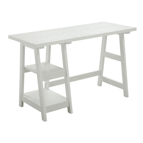 Designs2Go White Trestle Desk, image 2