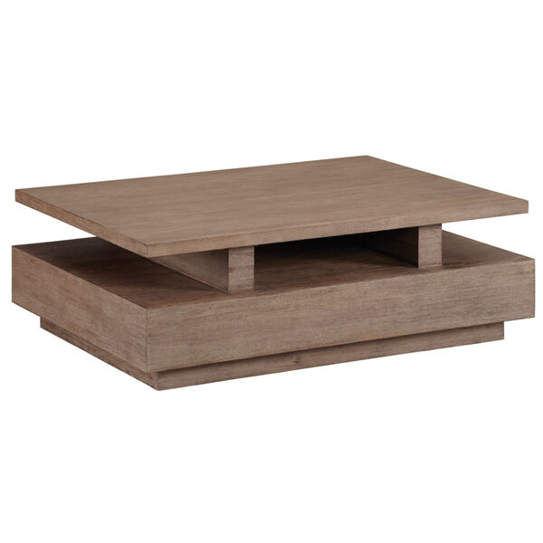 Slade Natural Rectangular Cocktail Table with casters, image 1