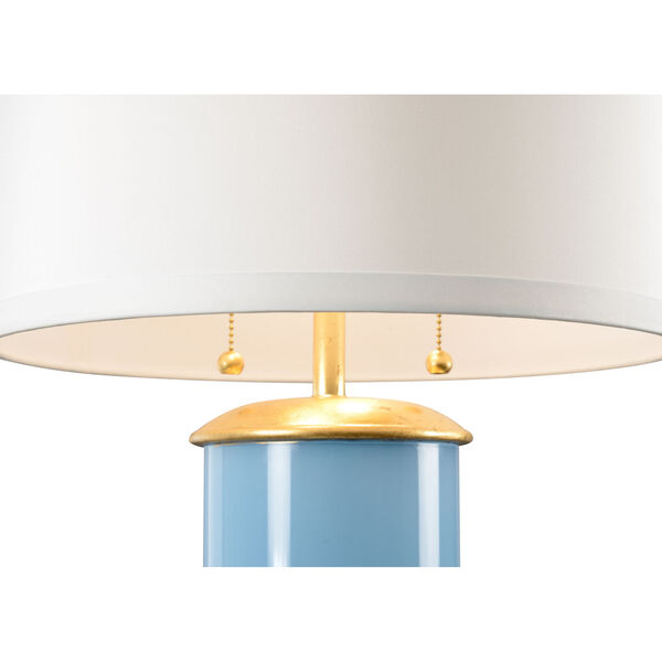 Savannah Turquoise, Gold and White Two-Light Table Lamp, image 2