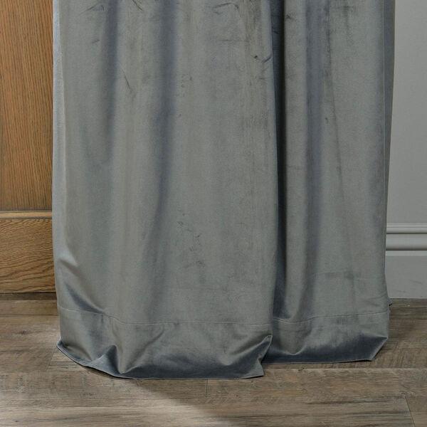 Natural Grey Blackout Velvet Pole Pocket Single Panel Curtain, 50 X 120, image 5