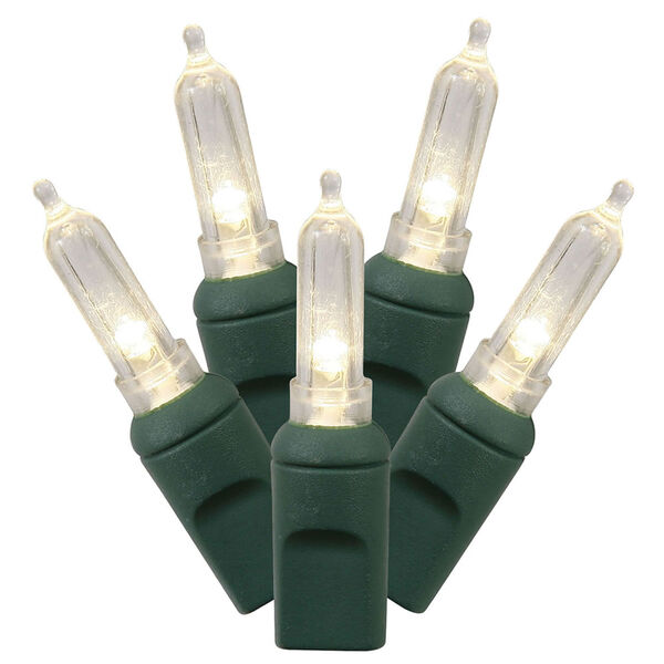 Warm White 34 Foot LED Italian Light Set with 100 Lights, image 1