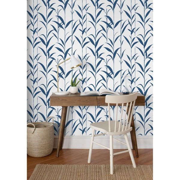 NextWall Green Bamboo Leaves Peel and Stick Wallpaper, image 3