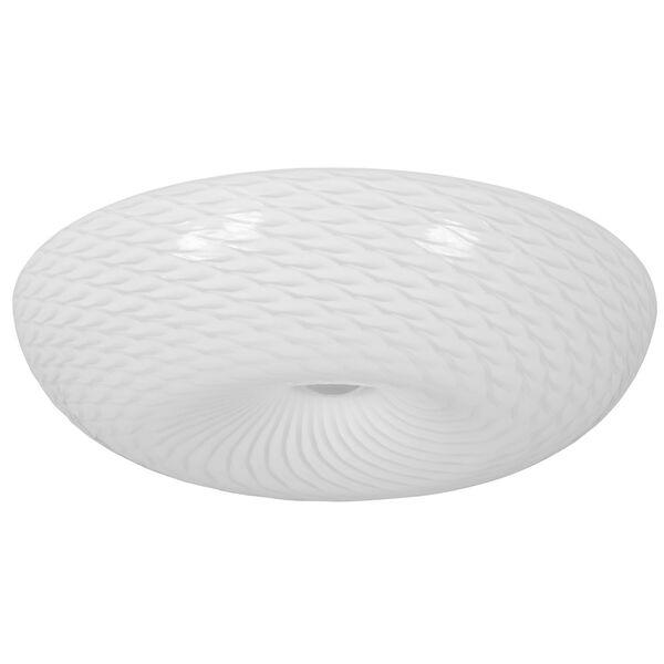Swirled Chrome 18-Inch Three-Light Flush Mount, image 2
