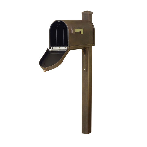 Berkshire Curbside Copper Mailbox and Wellington Direct Burial Mailbox, image 2