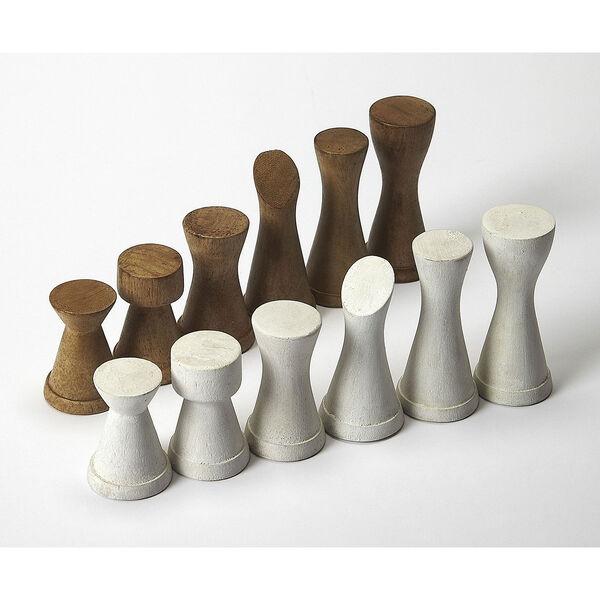 Butler Loft Levon Natural Mango Chess Game Table, image 4