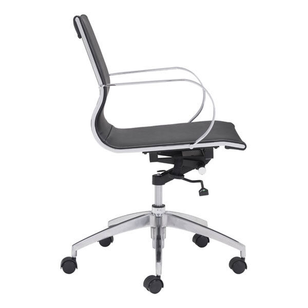 Glider Low Back Office Chair Black, image 2