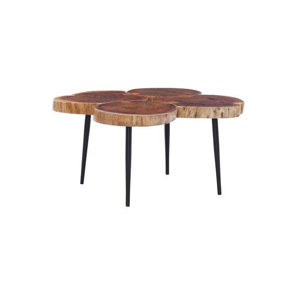 Aurelio Brown and Black Live Edge Small Coffee Table, image 4