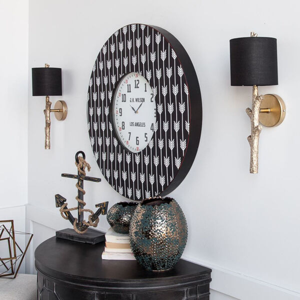 Sabinal II Black and Gold One-Light Wall Sconce, image 4